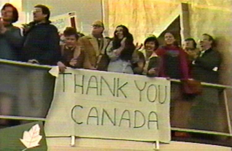 Velkomskomiteen for dei atthenta i den verkelege «Operasjon Argo» i 1980, der kanadisk etteretning hadde ei større rolle enn CIA. (Foto: United States State Department)