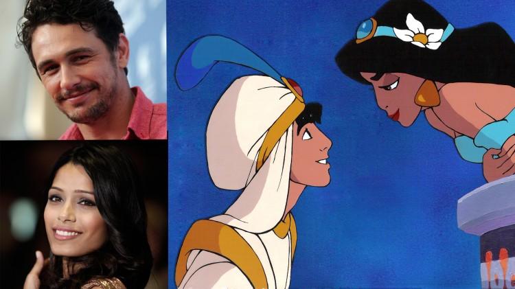 James Franco og Freida Pinto i Den nye Aladdin. (Foto: Guiseppe Cacace/Scanpix/Disney)