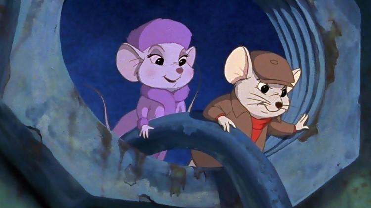 Musene Bernard og Bianca fra filmen The Rescuers fra 1977. (Foto: Disney)