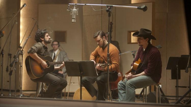 Oscar Isaac, Justin Timberlake og Adam Driver i Inside Llewyn Davis (Foto: Norsk Filmdistribusjon).