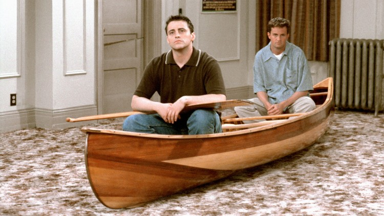 Joey (Matt LeBlanc) og Chandler (Matthew Perry) i «Friends». (Foto: NBC)