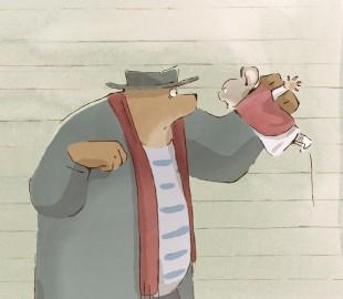 Ernest og Celestine har heldigvis beholdt sitt akvarellutrykk inn i filmens verden. (Foto: Arthaus)