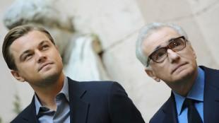 Leonardo DiCaprio og Martin Scorsese. (Foto: AFP PHOTO / TIZIANA FABI)