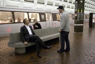 David Fincher instruerar Kate Mara og Kevin Spacey. (Foto: Melinda Sue Gordon/Netflix)