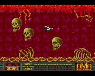 Skjermbilde fra det første spillet til David Jones, «Menace» (1988). (Foto: DMA Design / Rockstar Games)