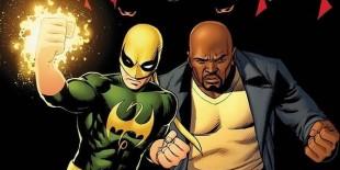 Luke Cage og Iron Fist, frå Marvel-teikneseriene. (Foto: Marvel)