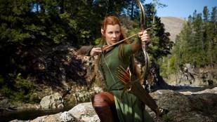 Evangeline Lilley spiller skogsalven Tauriel i Hobbiten: Smaugs ødemark (Foto: SF Norge).