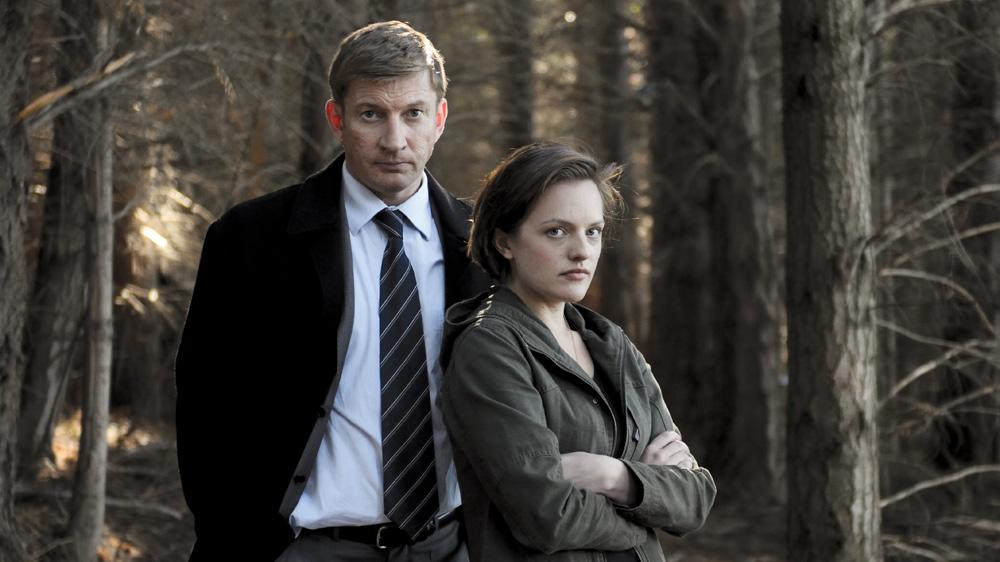 David Wenham og Elisabeth Moss i «Top of the Lake». (Foto: BBC / See-saw Films)