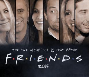 Falsk «Friends»-gjenforeningsplakat. (Foto: @ttomttom123/Twitter)