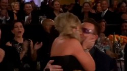 Klinte til Bono da hun vant – bokstavelig talt