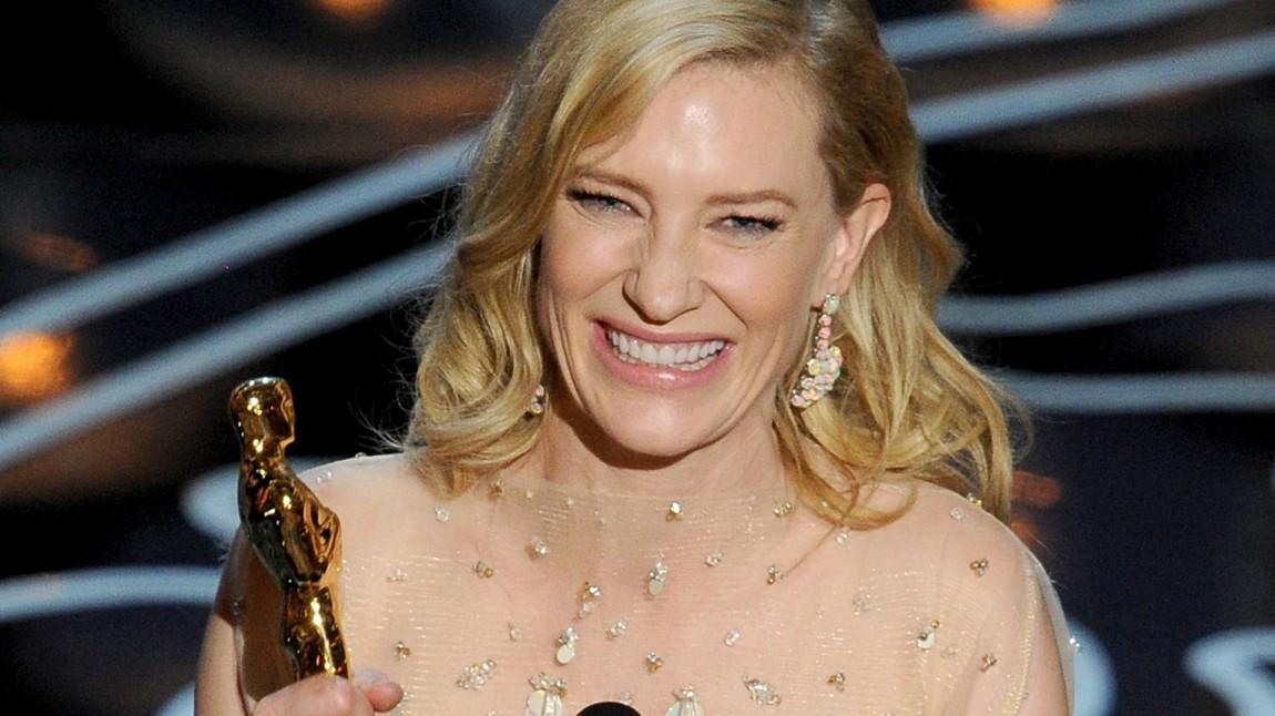 Cate Blanchett fikk Oscar for beste kvinnelige hovedrolle for sin prestasjon i Blue Jasmine. (Foto: Kevin Winter/Getty Images/AFP, NTB Scanpix).