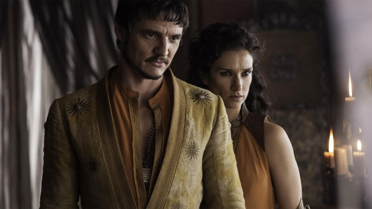 Oberyn Martell, spilt av Pedro Pascal, og Ellaria Sand, spilt av Indira Varma er nteressante rollefigurer å følge med på i Game of Thrones. (Foto: HBO).
