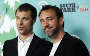 South Park-skaparane Trey Parker (t.h.) og Matt Stone. (Foto: AP Photo/Chris Pizzello)
