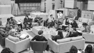 Nye og gamle Star Wars-skuespillere leser manus i London 29. april 2014. (Foto: The Walt Disney Company).