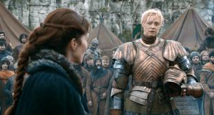 Gwendoline Christie som Brienne of Tarth i en scene fra Game of Thrones. (Foto: HBO)