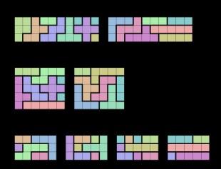 I puslespillet «Pentomino» skal du plassere «Tetris»-lignende brikker i en boks uten å ha tomrom tilovers. (CC-BY-SA-3.0,2.5,2.0,1.0 – Nonenmac/Wikipedia.com)