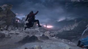 Quill (Chris Pratt) besøker fremmed verden i Guardians Of The Galaxy (Foto: The Walt Disney Company Nordic).