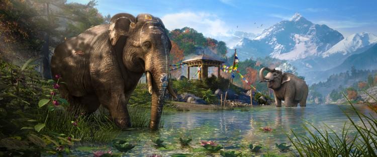 Omgivelsene er varierte og imponerende i «Far Cry 4». (Foto: Ubisoft)