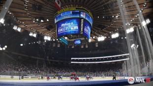 Omgivelsene i «NHL 15» er mer detaljerte enn tidligere spill i serien, også publikumsanimasjonene gir et bedre inntrykk. (Promofoto: EA)