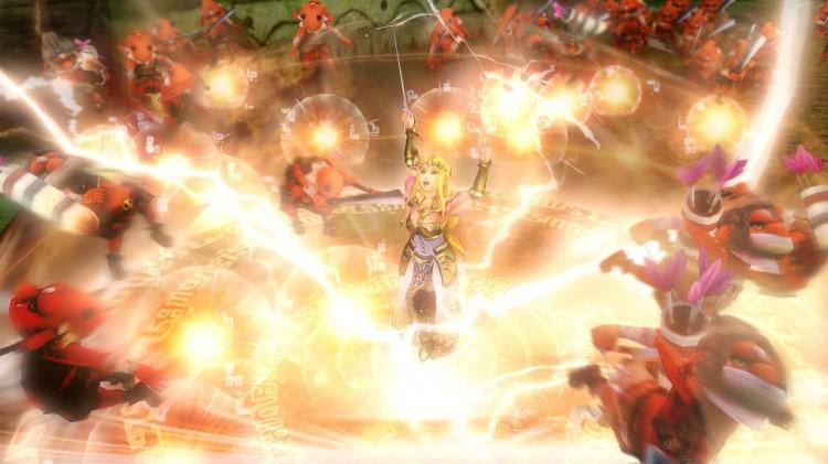 Spektakulære spesialangrep og stor variasjon mellom de ulike heltene er en stor fordel. Skjermbilde fra «Hyrule Warriors». (Promofoto: Nintendo / Koei Tecmo)