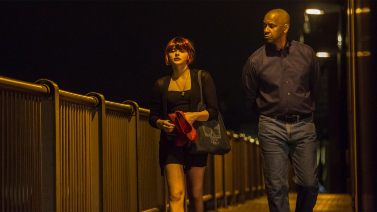 Chloë Grace Moretz spiller en ung prostituert kvinne i The Equalizer. (Foto: United International Pictures).
