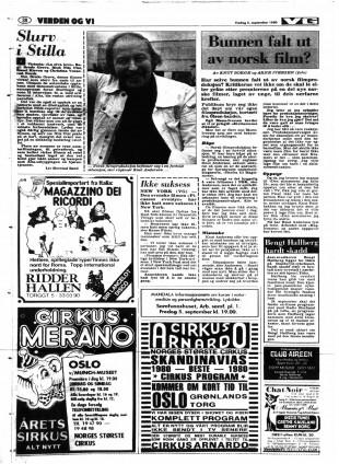 Anmeldelse av «La elva leve» i VG den 5. september 1980. (Faksimile)