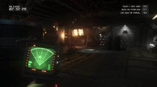 En enkel bevegelsessensor blir raskt ditt viktigste verktøy for å overleve ombord på Sevastopol-stasjonen. Skjermbilde fra «Alien: Isolation». (Promofoto: The Creative Assembly / SEGA)