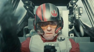 Pilot i en X-wing i Star Wars: The Force Awakens (Foto: The Walt Disney Company).