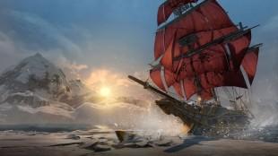 Foksuet på skip, denne gang i islagte farvann, gir inntrykk av at spillet er en utvidelsespakke til «Black Flag». Promofoto fra «Assassin's Creed: Rogue». (Foto: Ubisoft)