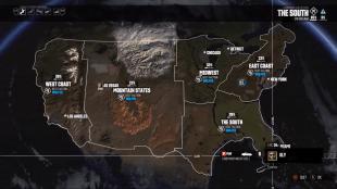 Kartet er enormt i «The Crew». USA er gjenskapt smart og kompakt, og tar 45 minutter å krysse i en rask bil. (Skjermfoto: Ubisoft)