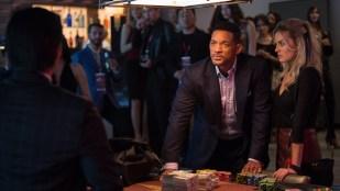 Nicky (Will Smith) og Jess (Margot Robbie) satser høyt i Focus (Foto: SF Norge AS).