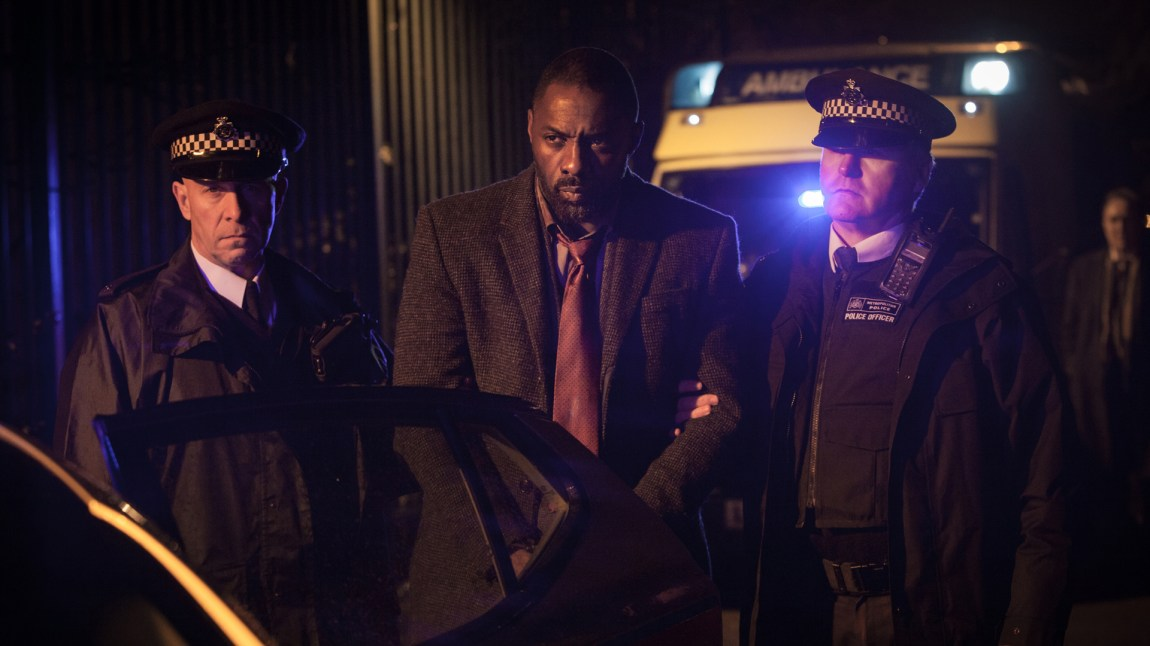 Idris Elba som etterforsker John Luther. (AP Photo/BBC America, Rober Viglasky, NTBScanpix)