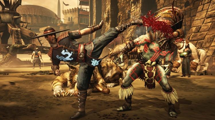 Blodspruten står himmelhøyt i «Mortal Kombat X». At aldersgrensen er plassert på høyeste nivå bør ikke overraske noen. (Foto: NetherRealm Studios)