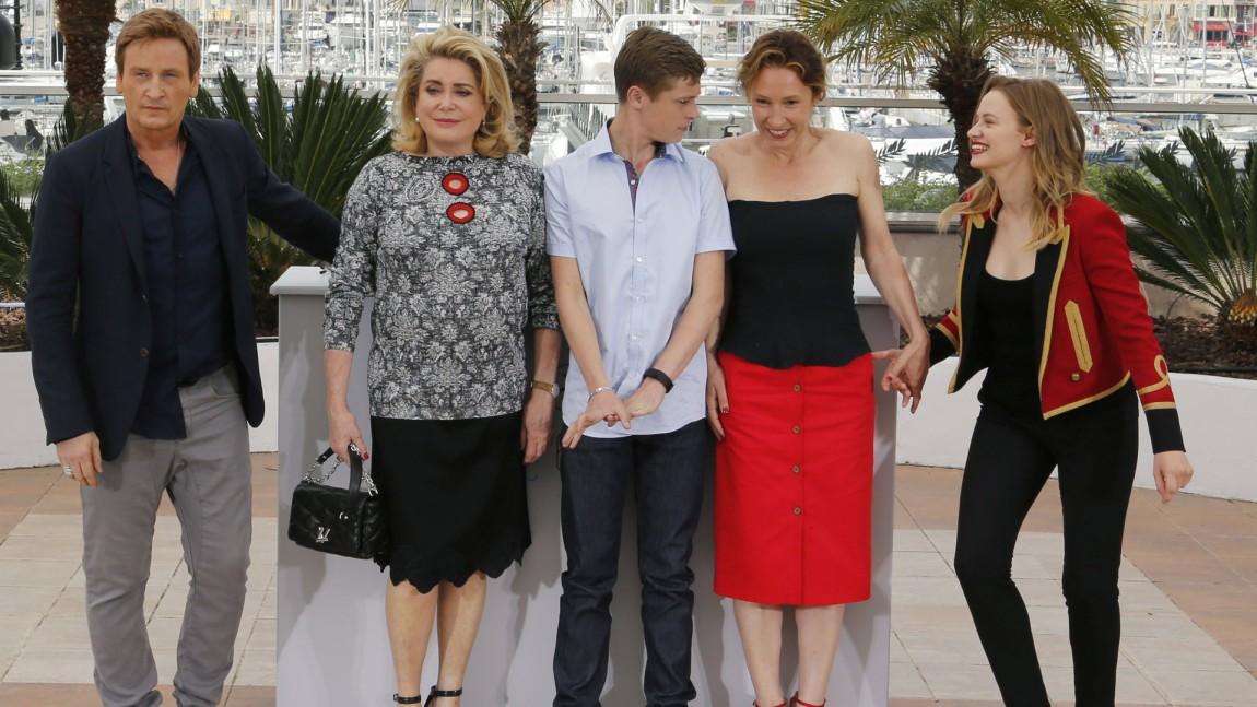 Benoit Magimel, Catherine Deneuve, Rod Paradot, director Emmanuelle Bercot and cast member Sara Forestier