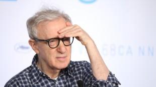 Woody Allen på pressekonferansen til Irrational Man i Cannes (Foto: AP Photo/Thibault Camus).