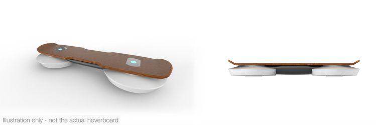 Slik ser skissene for Hendo Hoverboard ut. Ganske likt det Marty har! (Foto: hendohover.com).