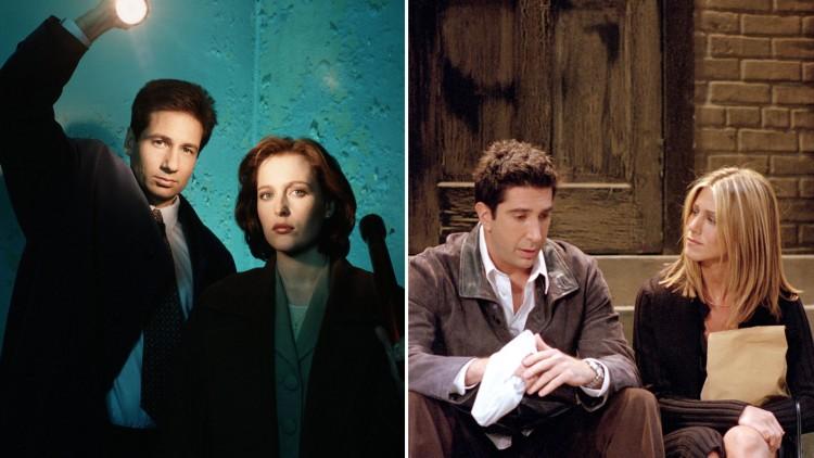 Mulder og Scully vs Ross og Rachel. (Foto: FOX, NBC. Bildekollasj: NRK).
