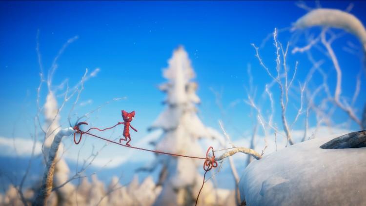 Yarny bruker garn fra seg selv for å forsere ulike hindringer. (Foto: Electronic Arts).