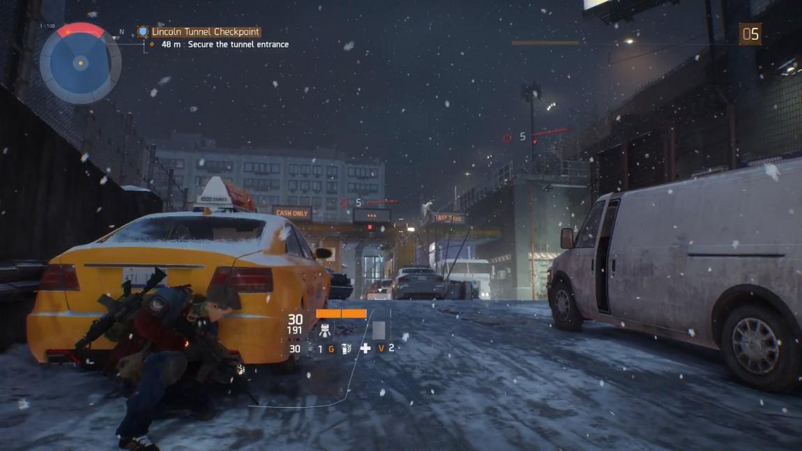 Kampsystemet i «Tom Clancy's The Division» er tungt basert på dukk-og-skyt-modellen. (Foto: Ubisoft)