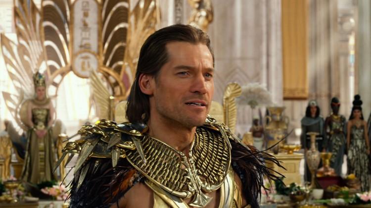 Dansken Nikolaj Coster-Waldau som den egyptiske guden Horus i Gods of Egypt. (Foto: Lionsgate).