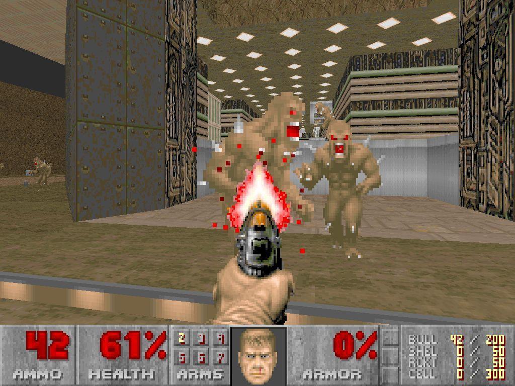 Doom – slik du kanskje hugsar det frå 1993. (Foto: id Software)