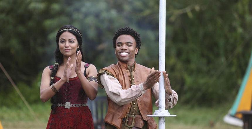 Sid og Isabella, Galavants følgjesvener(?) på reisa. (Foto: ABC)
