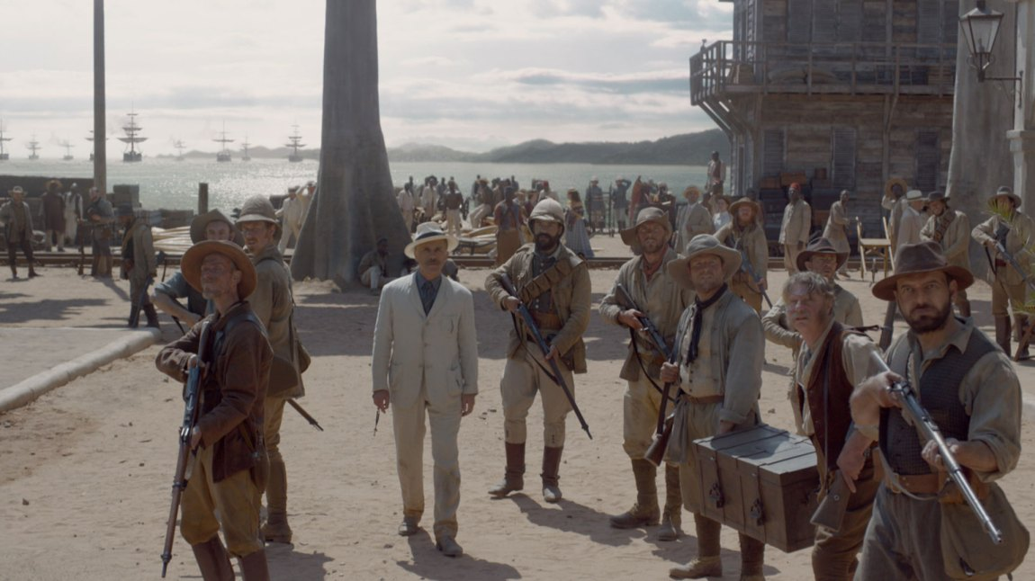 Leon Rom (Christoph Waltz) og kompani skaper trøbbel i Kongo. (Foto: SF Norge)