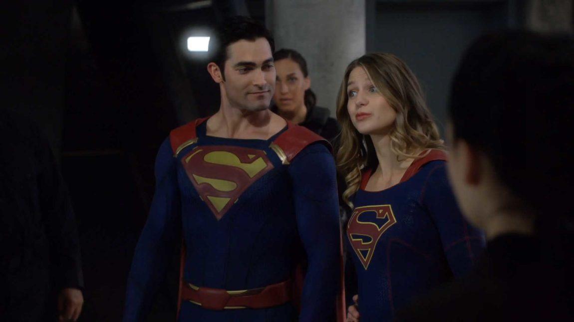 Tyler Hoechlin og Melissa Benoist i Supergirl. (Foto: HBO Nordic).