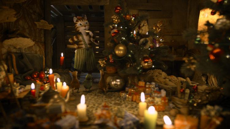 Findus må redde julen i Gubben og Katten - Tidenes Gladeste Jul. (Foto: SF Studios)