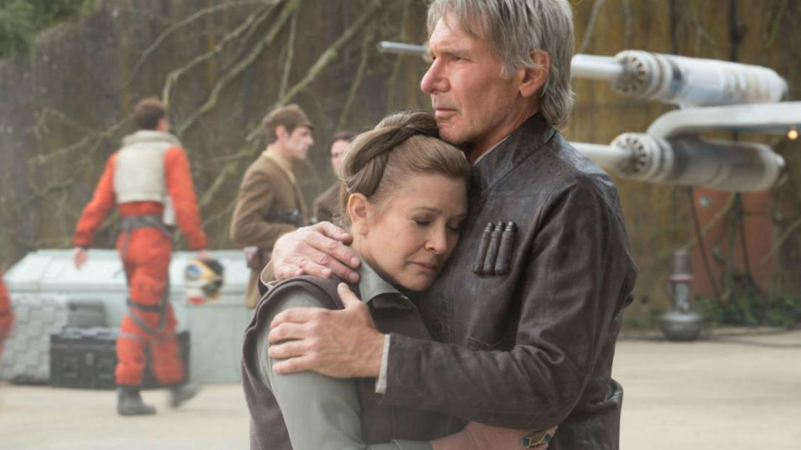 Vi fikk et gjensyn med Carrie Fisher og Harrison Ford i sine gamle roller i Star Wars: The Force Awakens (Foto: The Walt Disney Company).
