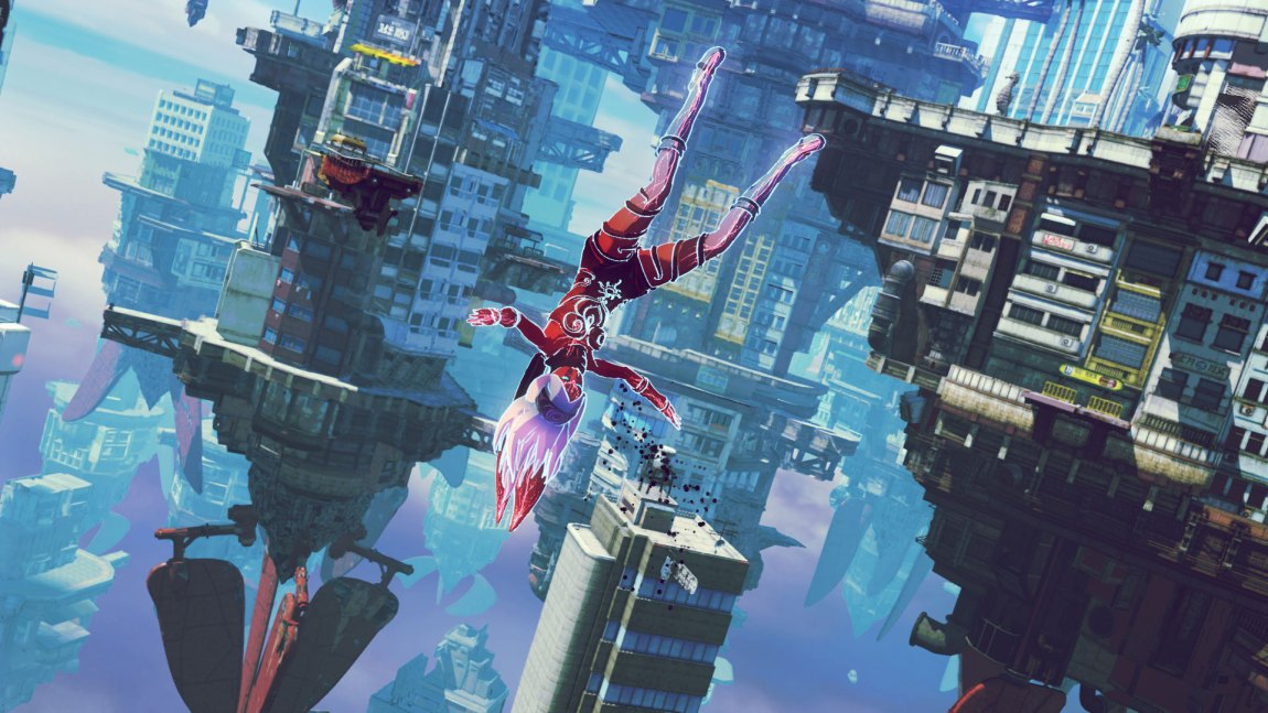 Hva som er opp og hva som er ned blir bokstavelig talt snudd på hodet i Gravity Rush 2. (Foto: Sony Computer Entertainment).