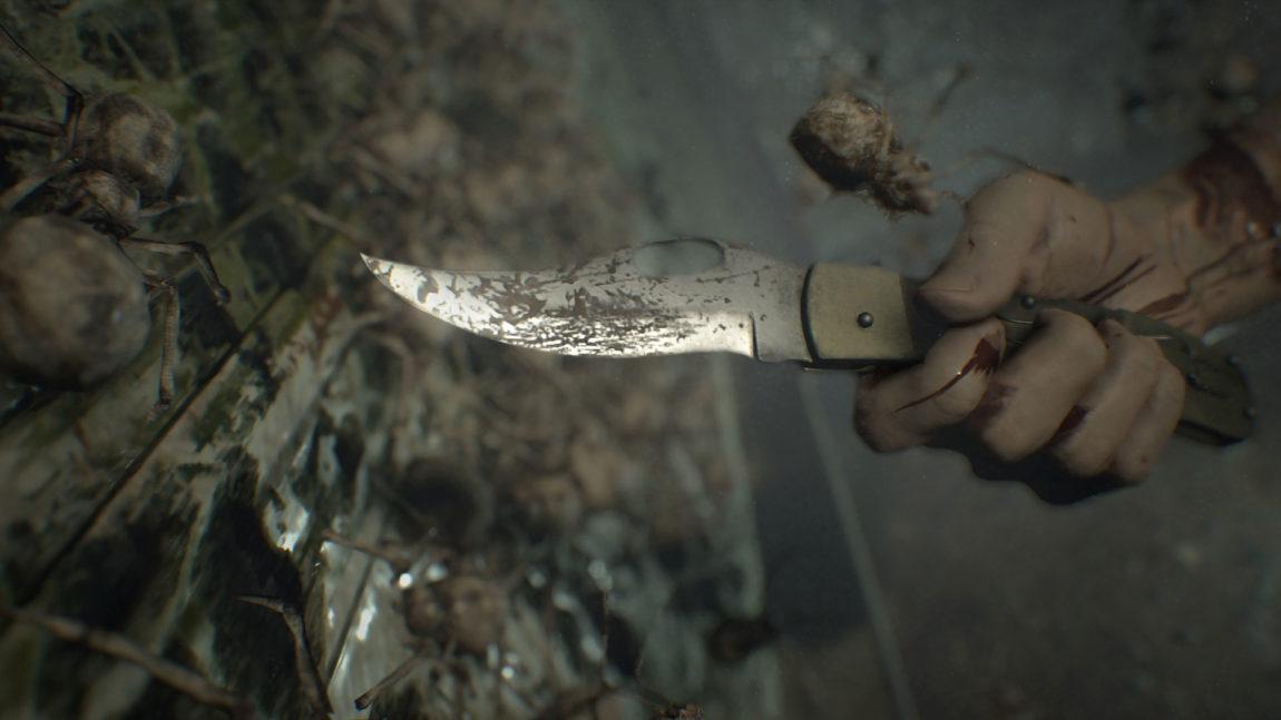 Du må klare deg med enkle våpen i Resident Evil 7: Biohazard. (Foto: Capcom / PAN Vision).