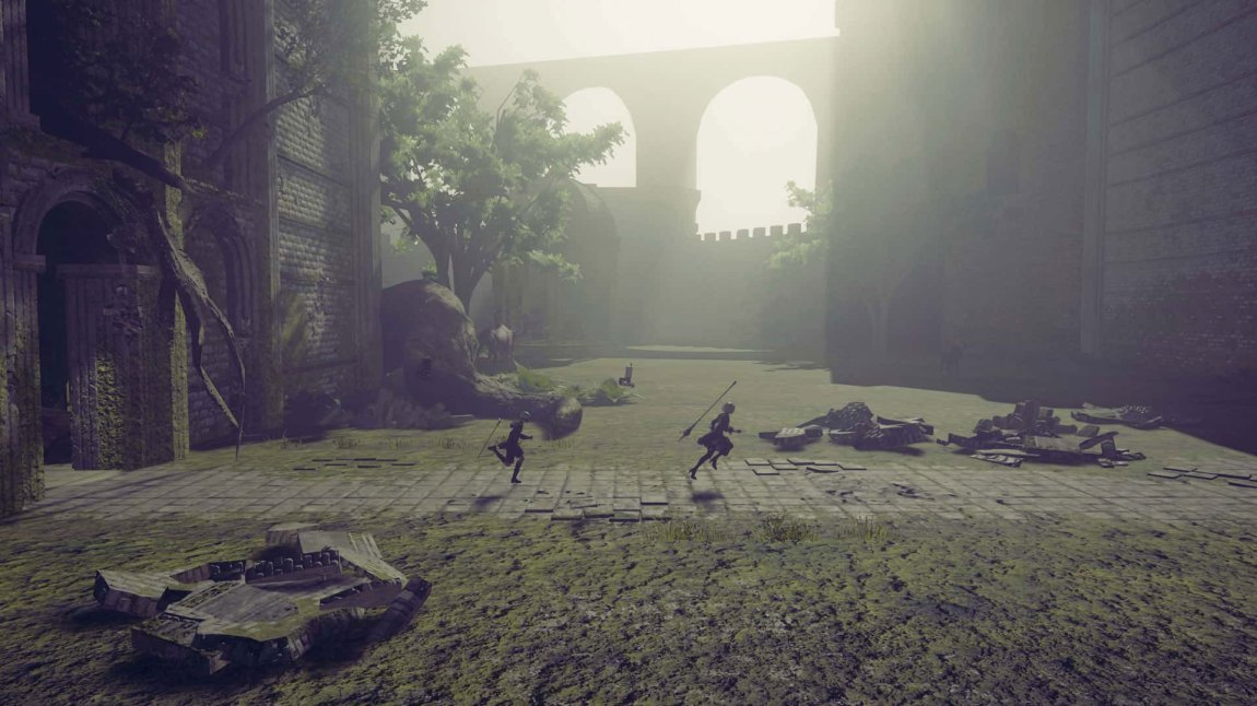 "I enkelte perioder er Nier: Automata en ""sidescroller"". (Foto: Square Enix)"