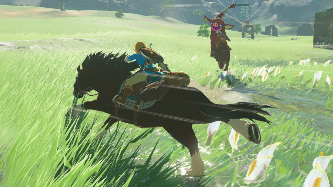 Du kan temme hester i The Legend of Zelda: Breath of the Wild. (Foto: Nintendo).